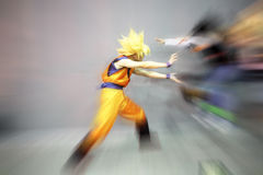 Cosplay. Er as characters called Super Saiyan ,show in the Guangzhou city ,China Royalty Free Stock Images