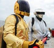 Cosplay Daft Punk MCM Komiczny przeciw fotografia royalty free