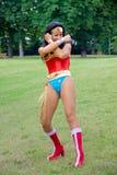 Cosplay - Demander-femme Image stock