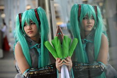 Cosplay Dresser. A cosplay dresser poses while attending the Thai-Japan Anime and Music Festival at Central World on March 31, 2013 in Bangkok, Thailand. An stock photos