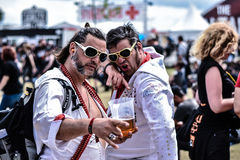 Cosplay Elvis Presley w Hellfest metalu festiwalu zdjęcie stock