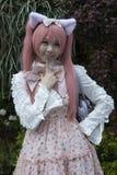 cosplay flicka royaltyfri bild
