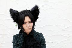 Cosplay flicka för japanskt animetecken Arkivbilder