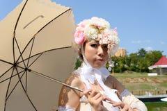 cosplay flickajapan Royaltyfri Bild