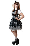 Cosplay girl in black dress Royalty Free Stock Photography