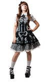 Cosplay girl in black dress Stock Photos