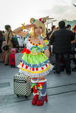 'PriPara' cosplay. Big Sight, Tokyo - December 30, 2014: Girl cosplaying as 'Mirei Minami' from the arcade game 'PriPara' at Royalty Free Stock Images