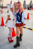 Cosplay girls in Tokyo. Tokyo, Japan - December 30, 2014: Cosplaying at Comiket.  Comiket is the world's largest 'dojinshi' (fan made self Stock Image
