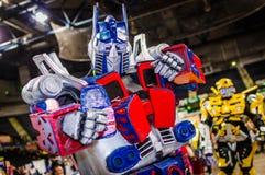Cosplay jako Optimus prima od transformatorów fotografia stock