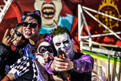 Cosplay Joker and more in Hellfest  festival Royalty Free Stock Images