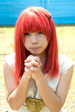 Cosplay jong meisje Stock Afbeelding