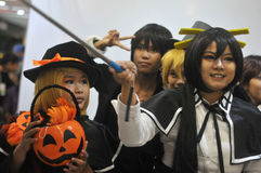 Cosplay konkurrens i Indonesien arkivbilder