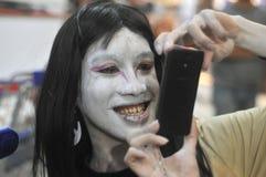 Cosplay konkurrens i Indonesien Fotografering för Bildbyråer