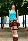 Cosplay Lara Croft Grobowcowa naje?d?ca obraz royalty free