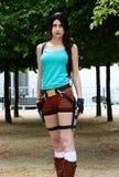 Cosplay Lara Croft Voleur de tombe image libre de droits