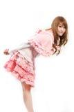 Cosplay lolita на белом backgound стоковое изображение rf