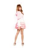 Cosplay lolita на белом backgound Стоковые Изображения RF