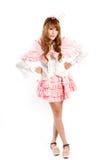 Cosplay of lolita on white backgound. Stock Photos