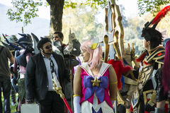 Cosplay in Lucca fair Royalty Free Stock Photo