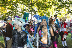 Cosplay in Lucca fair Royalty Free Stock Images