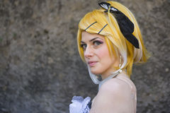 Cosplay in Lucca fair Stock Images