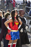 Cosplay. LUCCA, ITALY - OCTOBER 29: a Wonder Woman Cosplay poses for a photo during the Lucca Comics and Games annual festival on October 29, 2010 in Lucca Stock Photo