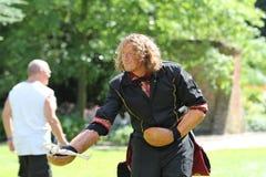 Cosplay-Marionettenmeister bei Castlefest 2013 stockfotografie
