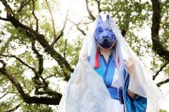 Cosplay młoda japońska dziewczyna Obrazy Royalty Free