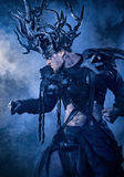 Cosplay mode för allhelgonaaftondemonhjortar Royaltyfri Foto
