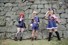 Cosplay młode japońskie dziewczyny Fotografia Royalty Free