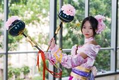 Cosplay para la convención Asia de los juegos Fotos de archivo libres de regalías