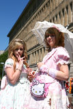 Cosplay pink ladies Royalty Free Stock Images