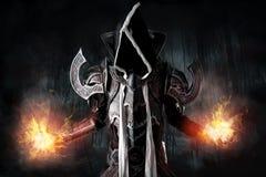 Cosplay scuro del demone immagine stock