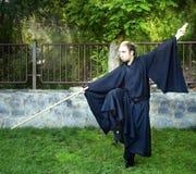 Cosplay, Shaolin michaelita charakteru uczestnika pozować Zdjęcia Royalty Free