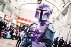 Cosplay som ett Star Wars tecken Royaltyfri Foto