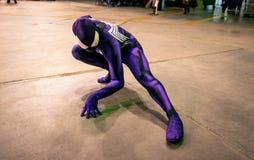 Cosplay Spiderman Royaltyfri Foto