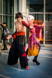 'Guilty Crown' cosplay. Big Sight, Tokyo - December 30, 2014: Couple cosplaying as characters from the series 'Guilty Crown' at Comiket 87 Royalty Free Stock Photography
