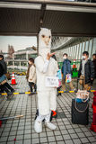 Cosplay in Tokyo. Tokyo, Japan - December 30, 2014: Cosplayer dressed as an alpaca at Comiket.  Comiket is the world's largest 'dojinshi' &#x28 Stock Photo