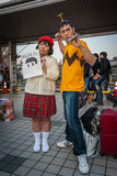 Cosplay in Tokyo. Tokyo, Japan - December 30, 2014: Cosplayers at Comiket.  Comiket is the world's largest 'dojinshi' (fan made self Royalty Free Stock Photo