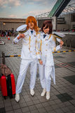'Uta no Prince-sama' cosplay. Tokyo, Japan - December 30, 2014: Cosplayers dressed as characters from the game 'Uta no Prince-sama' at Stock Photos