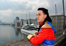 Cosplay Victoria Dock, escroc comique de MCM Londres image libre de droits
