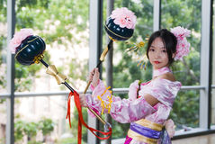 Cosplay voor de Overeenkomst Azië van Spelen Royalty-vrije Stock Foto's
