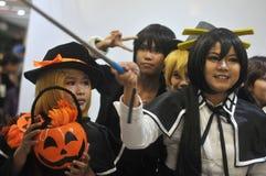 Cosplay-Wettbewerb in Indonesien stockbilder