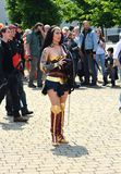 Cosplay. Wonder Woman. MCM Comic CON. London. Cosplayer dressed as Super Woman at MCM Comic Con  at The Excel, May 26th 2018. Wonder Woman is a fictional stock images