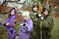 Cosplay young japanese girls Stock Photo