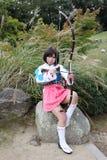 cosplayer ιαπωνικές νεολαίες Στοκ Εικόνα