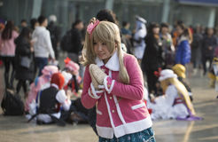 COSPLAYER στο Comiday16 Anime Festiva Στοκ Φωτογραφία
