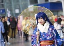 COSPLAYER στο Comiday16 Anime Festiva Στοκ φωτογραφία με δικαίωμα ελεύθερης χρήσης