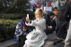 COSPLAYER στο Comiday16 Anime Festiva Στοκ εικόνα με δικαίωμα ελεύθερης χρήσης