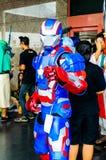 Cosplayer ως άτομο σιδήρου χαρακτήρων από το θαύμα Comics. Στοκ φωτογραφία με δικαίωμα ελεύθερης χρήσης
